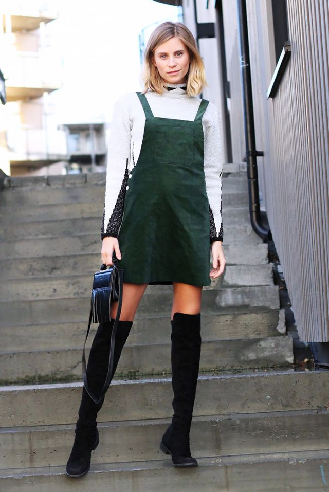 Thigh High Boots and Dress