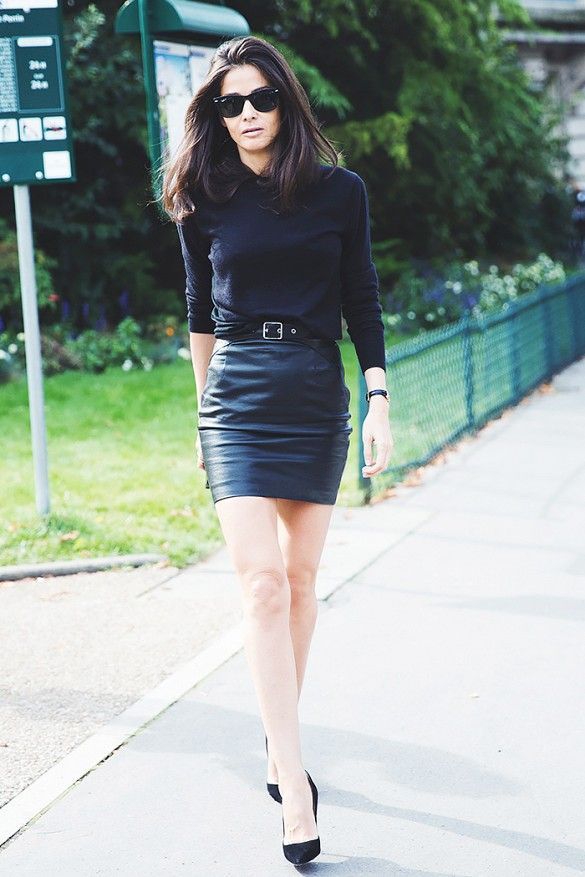 Black Mini Skirt Outfits
