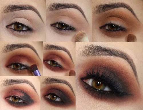 Black and Brown Smokey Eye
