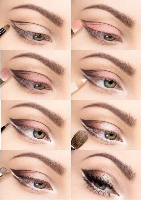 Brown and Pink Smokey Eyes