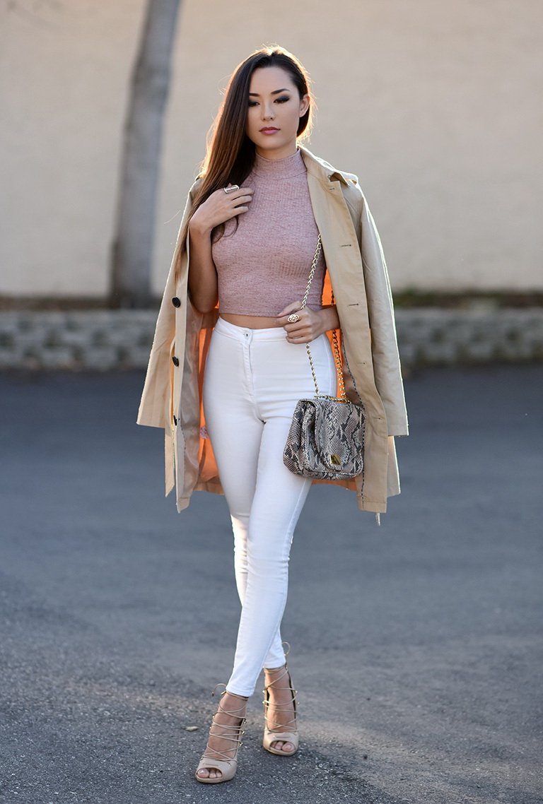 Crop Top Outfits with Skinny Jeans