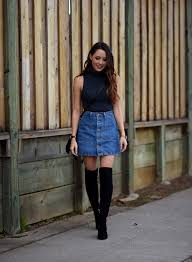 How to Wear a Denim mini Skirt