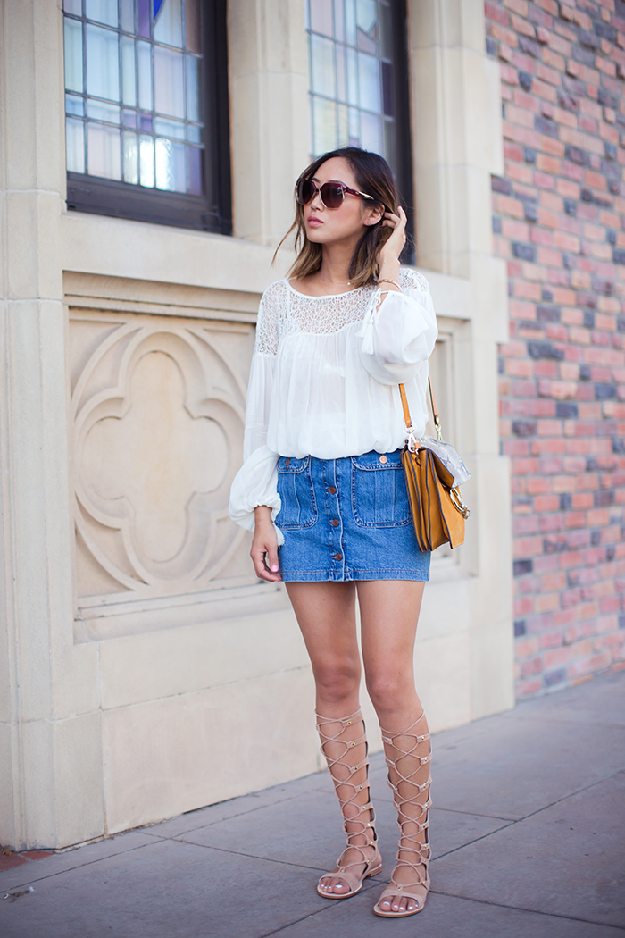 Denim Mini Skirt Outfit