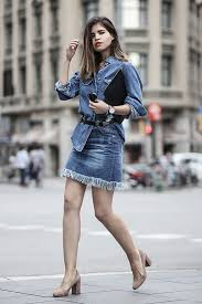 Denim Skirt Outfit Idea