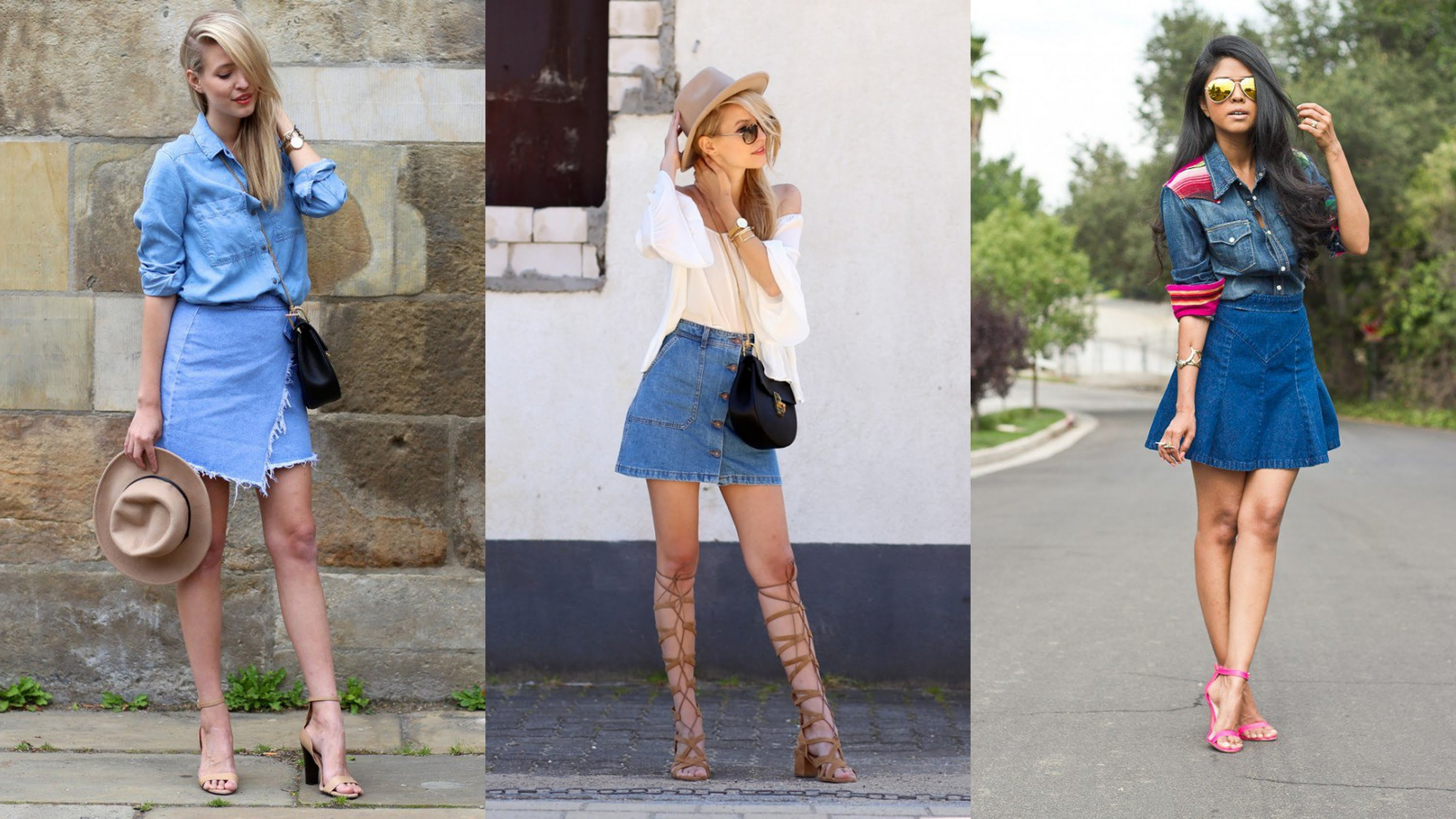 How to Style Denim Skirt Outfits | Style Wile