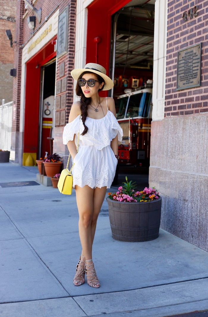 White Romper Outfit