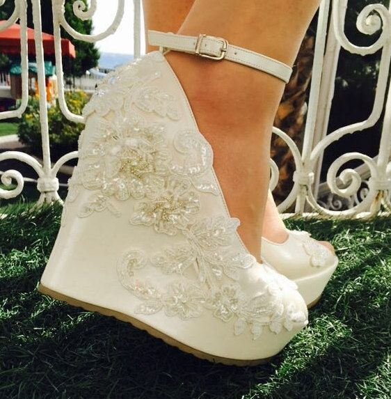 Comfortable Wedge Wedding Shoes