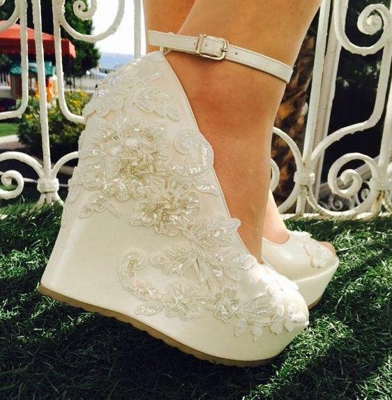 Comfortable Wedge Wedding Shoes