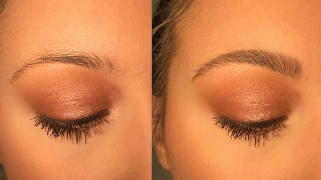 Eyebrows Filled in Before and After Image