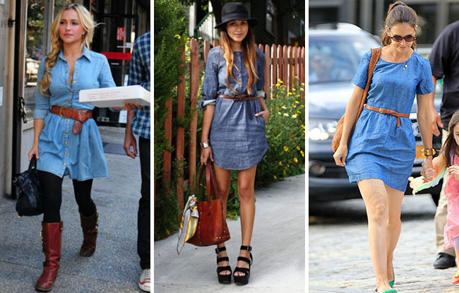 How to Wear a Denim Shirt Dress