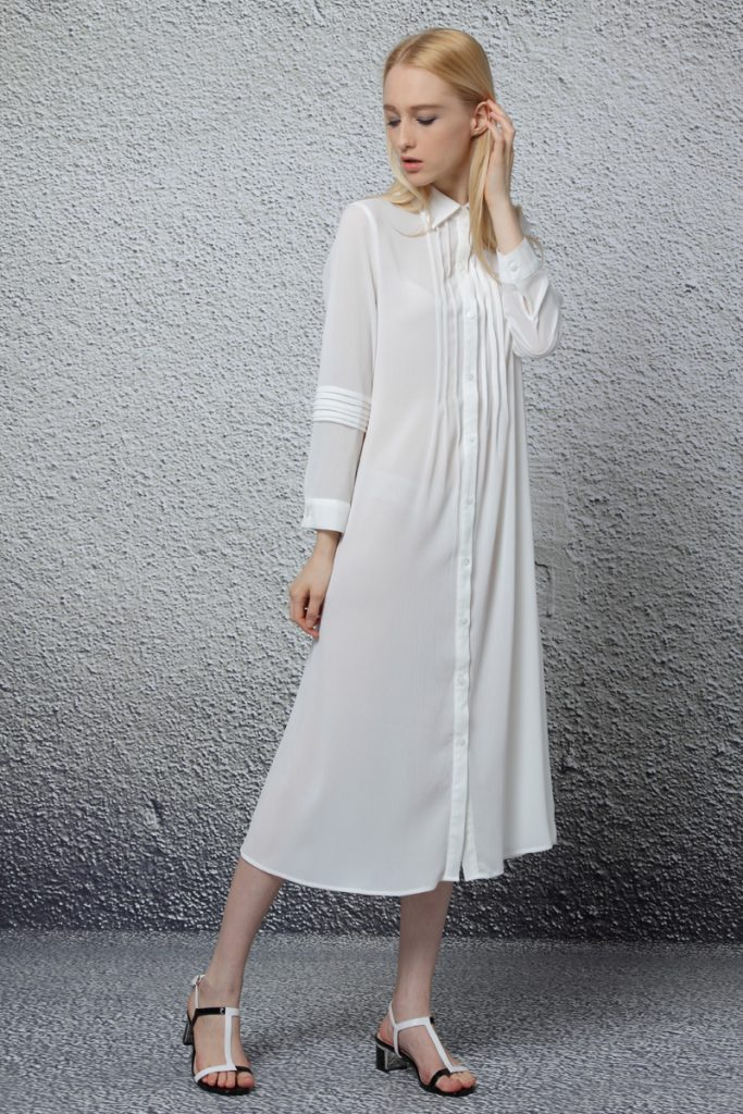 White Shirt Dress Outfit Ideas