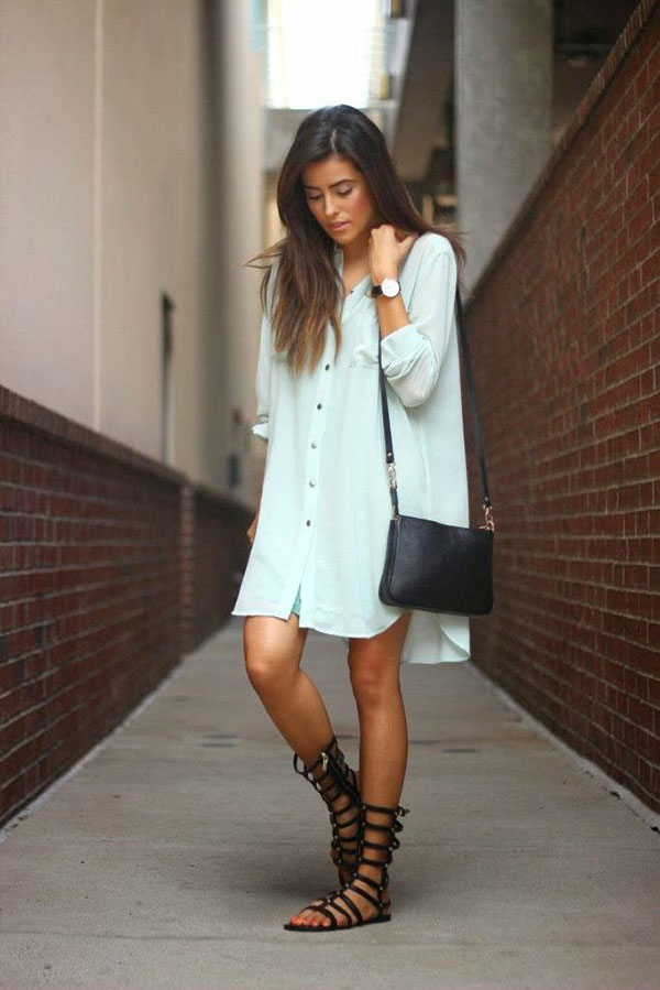 Oversized Shirt Dress Outfit