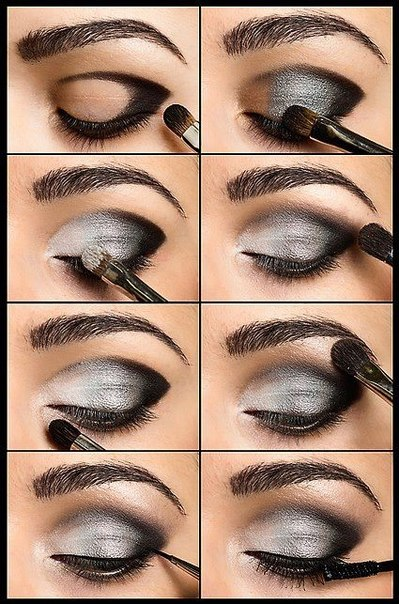 Hooded Eye Makeup Diagram