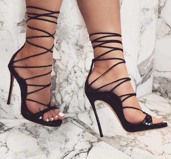 Lace –up Type High Heels
