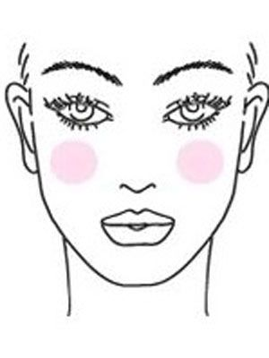 Applying Blush on Oval Face