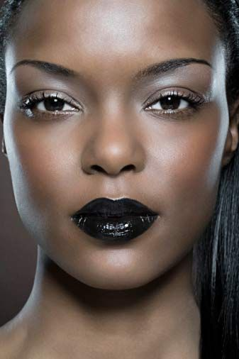 Black Lipstick on Dark Skin