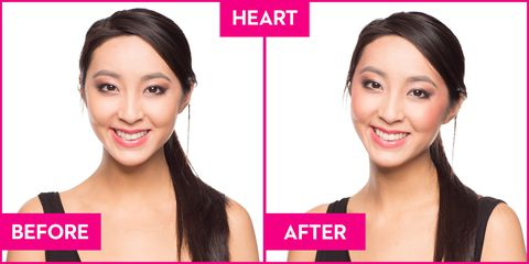 How to Apply Blush to Your Heart Shaped Face