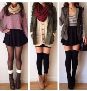 How to Wear Leg Warmer with Skirts