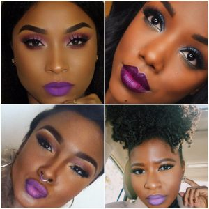 Purple Lipstick on Dark Skin