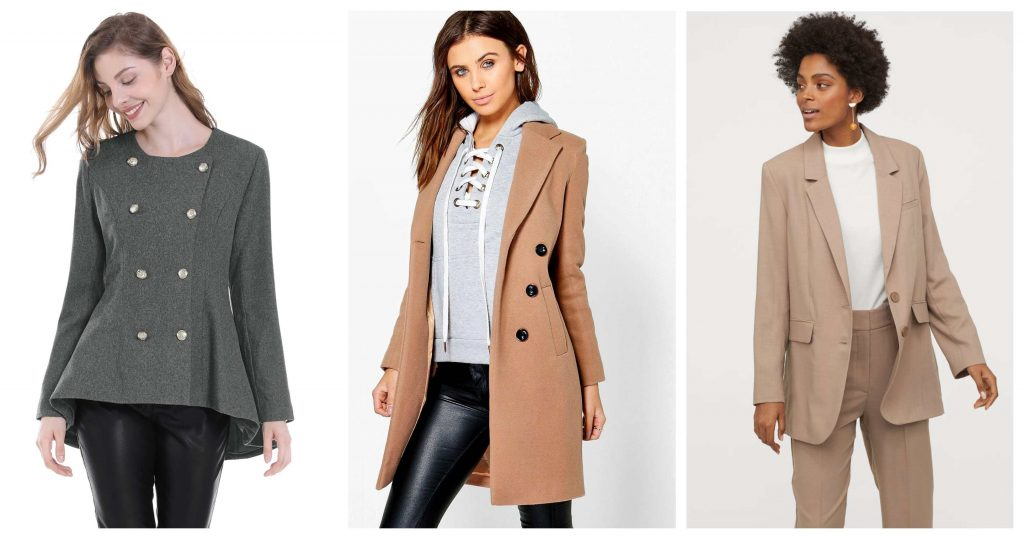 Coats and Jackets for Inverted Triangle Body Shape