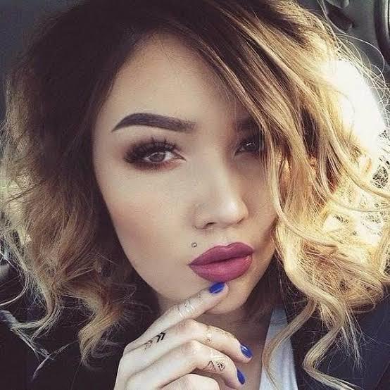 Madonna Lip Piercing